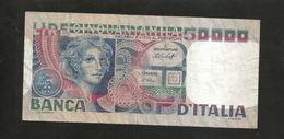 ITALIA - BANCA D' ITALIA - 50000 Volto Di Donna (Decr. 12 / 06 / 1978 - Firme: Baffi / Stevani) - [ 2] 1946-… : Repubblica