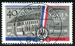 Berlin - Mi 856 - Zentrisch OO Gestempelt (B) - 40Pf  300 Jahr Französisches Gymnasium - Berlin (West)
