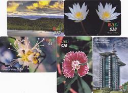 5 Phonecards Brunei - Brunei