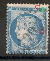 Cèrés 25c Type II N° 60B. 2 Variétés. - 1871-1875 Ceres
