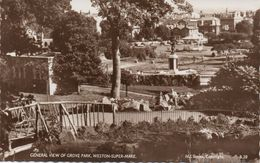 REAL PHOTOGRAPHIC POSTCARD - GROVE PARK - WESTON-SUPER-MARE - SOMERSET - Weston-Super-Mare