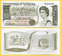 St Helena 1 Pound P-9a 1981 UNC - Saint Helena Island