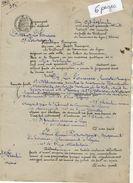 VP10.979 - Tribunal De LYON - Acte De 1948 - Entre La Cie La Foncière à PARIS Contre Mr PERAGANT à LYON - Bank & Insurance