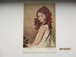 RED RIDING HOOD , BEAUTIFUL GIRL BY MÜLLER-BRESLAU  , OLD POSTCARD , 0 - Andere Illustrators