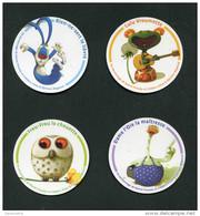 """Lot De 4 Magnets """"Frou-Frou La Chouette, Lulu Vroumette, Rien-ne-sert Le Lièvre, Dame L'Oie La Maîtresse"""" Daniel Picouly - Magnets"""