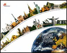 Portogallo / Portugal 2007: Foglietto Meraviglie Del Mondo / New Wonders Of The World S/S ** - Monuments