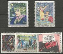 France - 1965 Art Paintings Set Of 5 MNH **  Sc 1113-7 - Frankrijk
