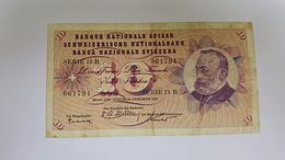 SVIZZERA 10 FRANCHI 1958 - Suisse