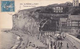 76. SAINT PIERRE EN PORT. CPA . LA TERRASSE DU CASINO. ANNÉE 1926 - Frankreich