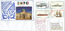 UNIVERSAL EXPO MILANO 2015.  Pavillon Du KAZAKHSTAN.  Lettre Postée De L'Expo Adressée ANDORRA - 2015 – Milan (Italy)