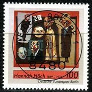 Berlin - Mi 857 - Zentrisch OO Gestempelt (A) - 100Pf  Hannah Höch - Berlin (West)