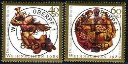 Berlin - Mi 858 / 859 - Zentrisch OO Gestempelt (B) - Weihnachten 1989 - Berlin (West)