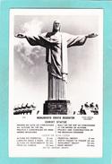Old Postcard Of Christ The Redeemer,Monumento Cristo Redentor,Rio De Janeiro, Brazil,,.Q11. - Rio De Janeiro