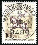 Berlin - Mi 860 - Zentrisch OO Gestempelt (A) - 100Pf  Postverbindungen - Berlin (West)