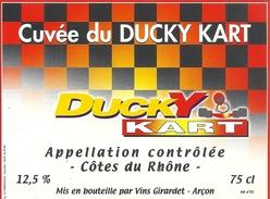 CUVEE DU DUCKY-KART  .. 12,5°  .. 75cl - Etiquettes