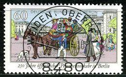 Berlin - Mi 861 - Zentrisch OO Gestempelt (A) - 60Pf  250 Jahre öffentlicher Personenverkehr - Berlin (West)