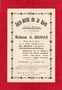 Horaire Des Trains Le Rancy-Paris - 1937 - Maison J.Brossy - Café Hôtel De La Gare - Europe
