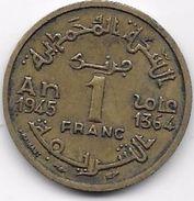 Maroc 1 Franc 1364 - Maroc