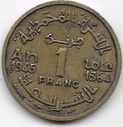 Maroc 1 Franc 1364 - Morocco