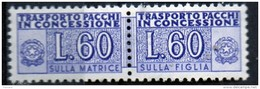 PIA - Specializzazione  :  PACCHI CONCESSIONE : £ 60 - (SAS 7/II - CAR 29) - 6. 1946-.. Repubblica