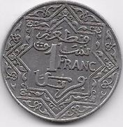 Maroc 1 Franc Empire Cherifien - Maroc