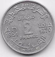 Maroc 2 Francs Empire 1370 - Morocco