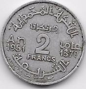 Maroc 2 Francs Empire 1370 - Maroc