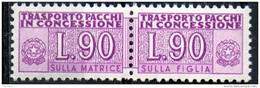PIA - Specializzazione  :   PACCHI CONCESSIONE : £ 90 - (SAS 11/II - CAR 32) - 6. 1946-.. Repubblica