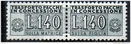 PIA - Specializzazione  :   PACCHI CONCESSIONE : £ 140 - (SAS 15/II - CAR 35) - 6. 1946-.. Repubblica