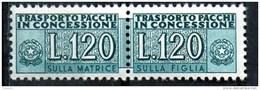 PIA - Specializzazione  :   PACCHI CONCESSIONE : £ 120 - (SAS 14/II - CAR 34) - 6. 1946-.. Repubblica