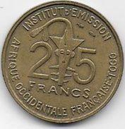 Afrique Occidentale Française Togo -- 25 Francs  1957 - Colonie
