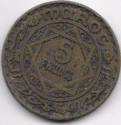 Maroc 5 Francs Empire Cherifien - Maroc
