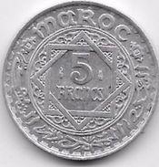 Maroc 5 Francs Empire Cherifien Aluminium - Morocco