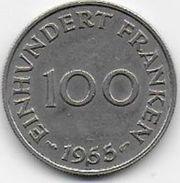 SARRE - 100 Fr  1955 - Saar
