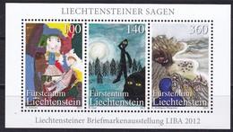 Liechtenstein, 2012,  Mi.1636/38 Block 23, Liechtensteiner Sagen. MNH ** - Liechtenstein
