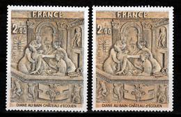 France 2053  Variété Orange Vif Et Normal  Neuf ** TB MNH Sin Charnela - Varietà: 1970-79 Nuovi