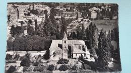 CPSM BAIGNES STE RADEGONDE CHARENTE L EGLISE  EN AVION AU DESSUS DE LAPIE  5  1957 - France