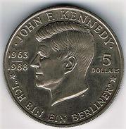 NIUE : 5 Dollars1988 - JF Kennedy - Niue