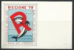 HUNGARY UNGHERIA RICCIONE 1979 XXXI FIERA INTERNAZIONALE DEL FRANCOBOLLO CARTOLINA POST CARD ANNULLO SPECIALE - Borse E Saloni Del Collezionismo
