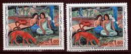 France 1568 Variété Impression Décalée Signature Année Sur Blancet Normal Tableau De Gauguin Neuf ** TB MNH Sin Charnela - Abarten: 1960-69 Ungebraucht