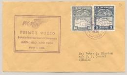 Curacao - 1930 - First PAA Flight Cover From  Maracaibo / Venezuela To Curacao - Curaçao, Antilles Neérlandaises, Aruba