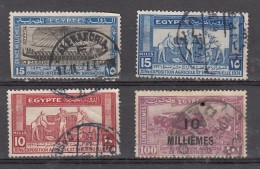 Egypte  1926 -1931  4  Valeurs - Egypt