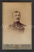 Photo-carte De Visite / CDV / W / Foto / Militaire / Officier / Soldat / Photographie Boute / Gent / 2 Scans - Ancianas (antes De 1900)