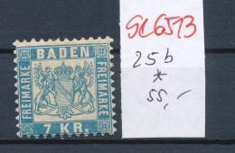 Baden Nr. 25 B *.. (se6513  ) Siehe Scan !! - Baden