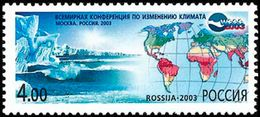 Russia 2003 World Conference Climate Fluctuation Map Emblem Moscow Nature Organization Stamp MNH Mi 1106 SG#7204 - Organizations