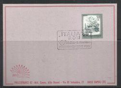 AUSTRIA ÖSTERREICH 1985 ITALIA 85 ROMA VIEWS DEFINITEVES Farmhouses, Zillertal, Tirol. 50g CARD CARTOLINA - Borse E Saloni Del Collezionismo