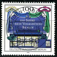 Berlin - Mi 866 - Zentrisch OO Gestempelt (A) - 100Pf  100 Jahre Freie Volksbühne - Berlin (West)