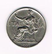 )  ITALIE  1 LIRA  1923 R - 1861-1946 : Royaume