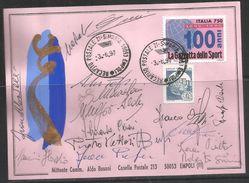 ITALIA ITALY CIRCOLO FILATELICO DI EMPOLI AUTOGRAFATA ALDO BUSONI 3 6 1997 CARD CARTOLINA - Borse E Saloni Del Collezionismo