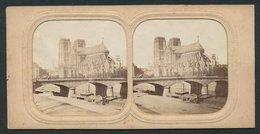 Vue Stéréoscopique-Photo Photographe Inconnu, Paris, L'Absyde Notre Dame, Halt Gegens Licht-Sternschnuppe - Stereoscopio